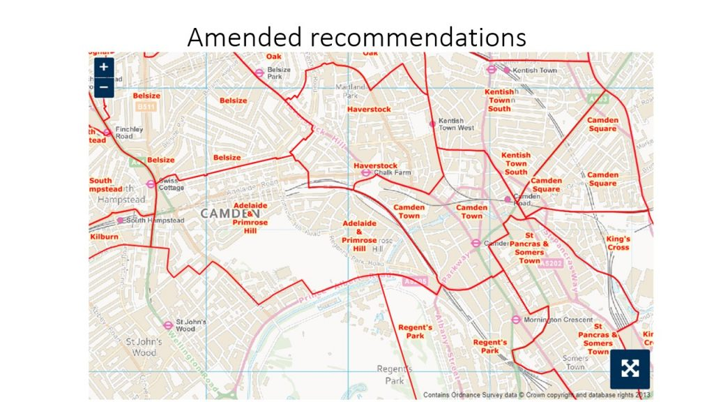 Proposed changes to Primrose Hill & Camden Town Ward