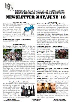Newsletter May/June 2018