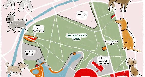 Regent's Park Dog Map